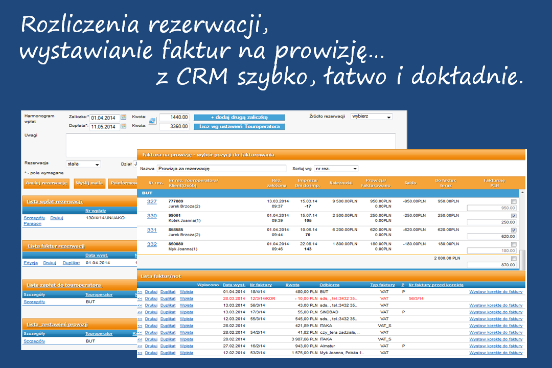 crm - faktury