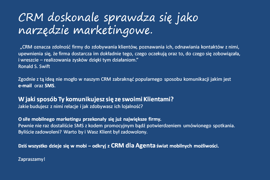 crm - smsemail